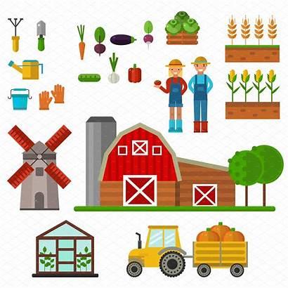 Farm Symbols Vector Market Global Creative