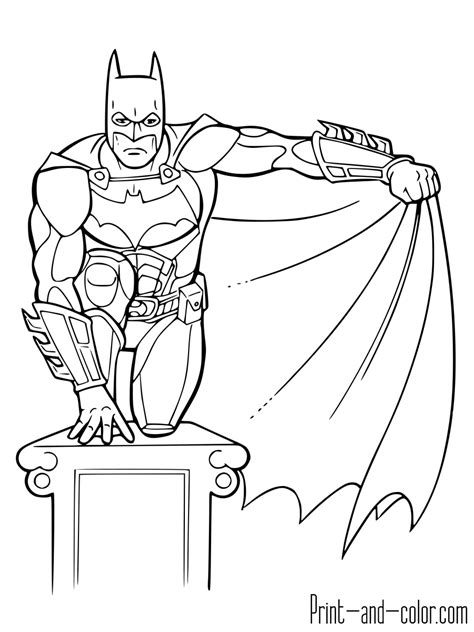 coloring pages batman batman coloring pages print and color