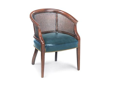 hancock and moore living room cane back chair 8347