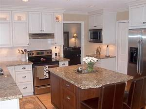Painted kitchen cabinets with stained doors quicuacom for Painting stained wood kitchen cabinets