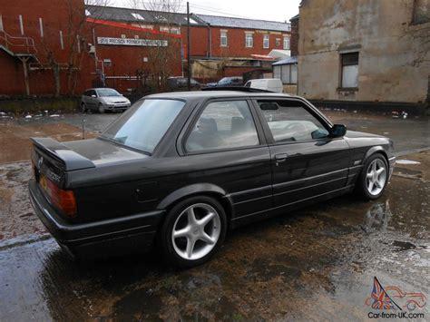 bmw 325i e30 m tech 2 1989 import fra tyskland km 98000 1989 f bmw e30 325i sport m tech ii coupe black manual classic rare mot