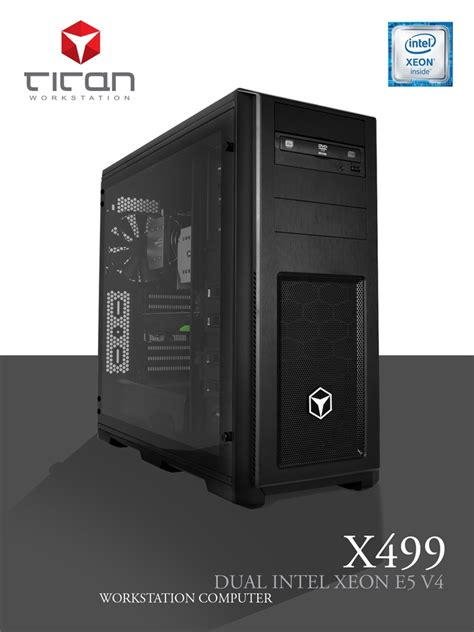 xeon intel e5 v4 dual titan pc workstation 2600 3d series rendering cores broadwell cpus ep cad computers number