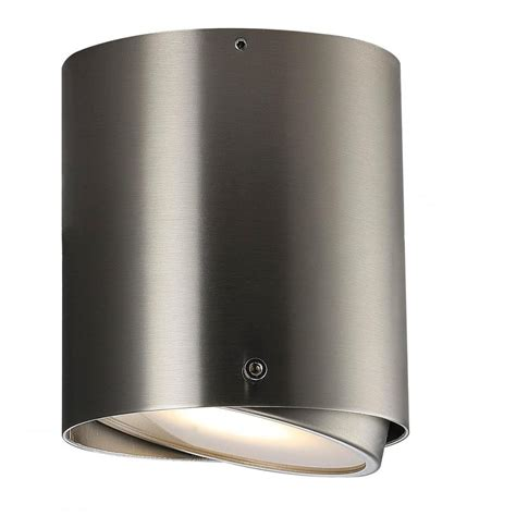 Contemporary Bathroom Downlight by Contemporary Brushed Steel Bathroom Surface Mounted Light
