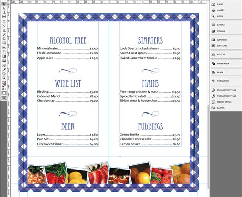 menu card template tutorial menu card template for your restaurant