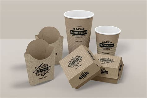 All free mockups include smart objects for easy edit. Fast Food Branding and Packaging Free Mockup Template ...