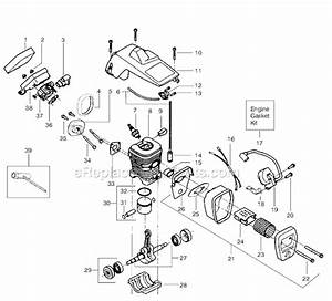 Poulan Chainsaw Fuel Line Routing Diagram