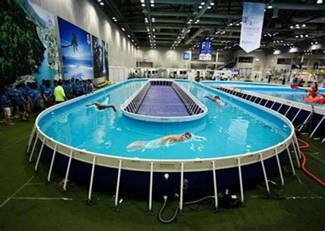 Funny Above Ground Metal Framed Swimming Pools / 10ft