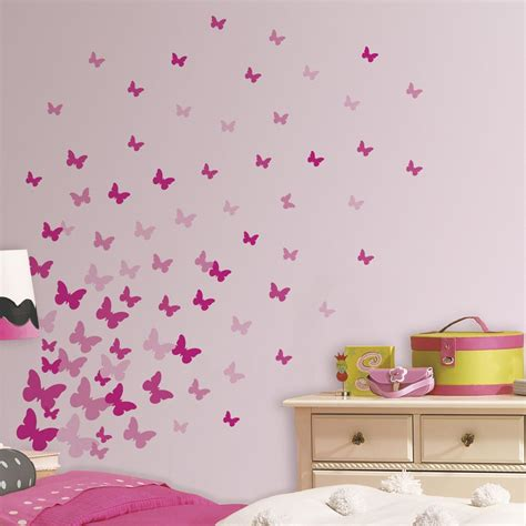 wandsticker schmetterlinge rosa pink von roommates kaufen