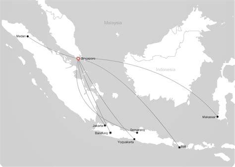 indonesia airasia route map  singapore