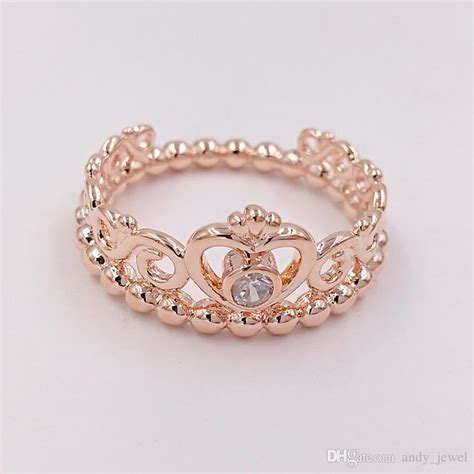 Rose Gold Plated & 925 Sterling Silver Ring My Princess