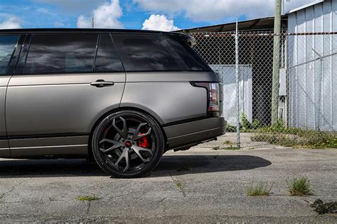 matte gray range rover gallery matte grey range rover on forgiato wheels