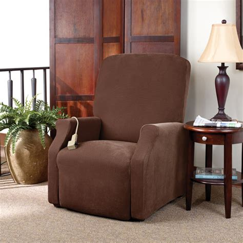 Oversized Chair Slipcover Walmart by Sure Fit Stretch Pique Lift Recliner Slipcover Large