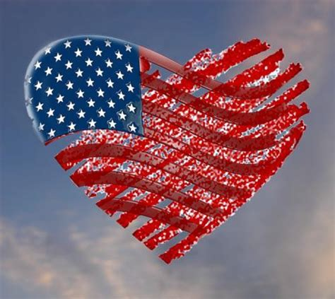 american flag heart  graphic downloadable image