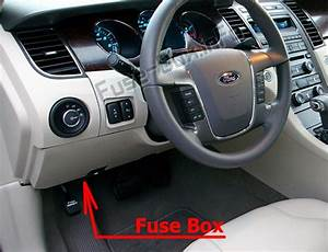 Fuse Box Diagram Ford Taurus  2010