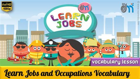 Vocabulary Lesson  Learn Jobs And Occupations اسماء الوظائف بالإنجليزي Youtube