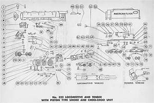 American Flyer Locomotive 322 Hudson Parts List