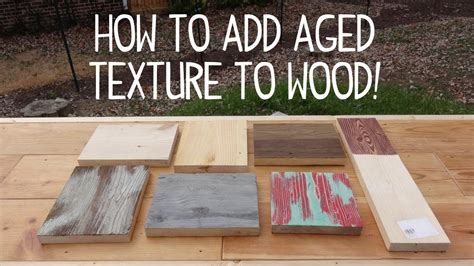 antique iron how to wood look weathered texture trick