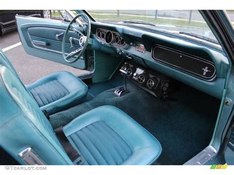 turquoise interior  ford mustang coupe photo