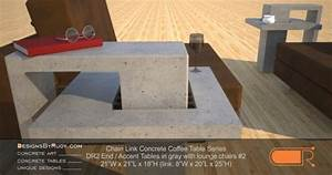 Concrete end table dr2 contemporary concrete coffee for Stunning contemporary concrete coffee table design