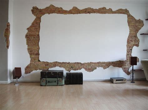 homecinema screenwall projection screen bricks