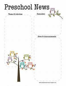 free april newsletter template - preschool owl newsletter template the crafty teacher