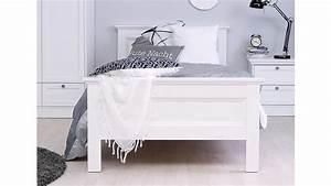 Bett Hochglanz Weiß 90x200 : bett landwood bettgestell in wei mit kopfteil 90x200 cm landhausstil ~ Markanthonyermac.com Haus und Dekorationen