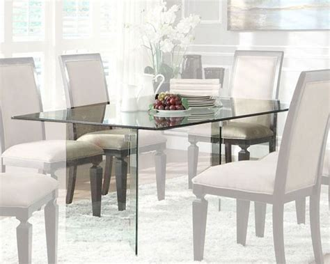 homelegance rectangle glass dining table alouette el
