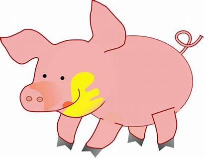 Pig Happy Clker Clip Clipart