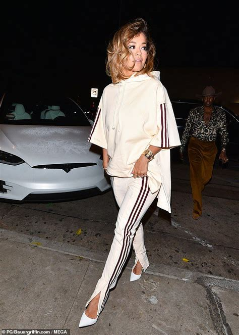 Rita Ora opts for comfort as she heads out for dinner at ...