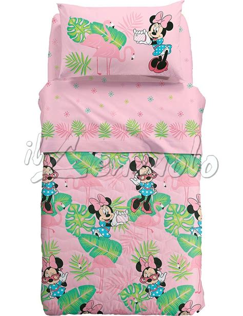 copriletto singolo disney copriletto una piazza e mezza disney minnie palm