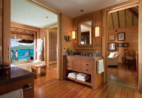 bora seasons four resort french polynesia inside resorts bathroom hotels tropical interior wood