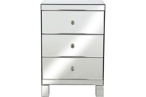 Very Parisian Mirrored 3 Drawer Ready Assembled Bedside Chest