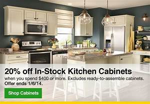 lowes save 20 on in stock kitchen cabinets milled With kitchen cabinets lowes with free brand stickers