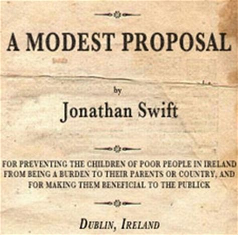 composition modest proposals  power  satire