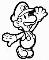 Mario sketch template