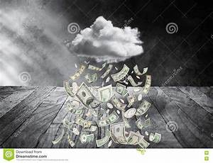 Money Cloud Raining Money stock photo. Image of america ...