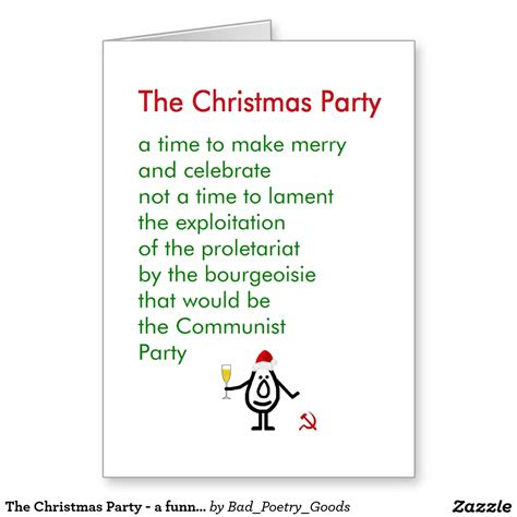 holiday party poem employment enjoy joke picture