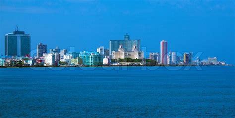 skyline  modern havana  caribbean stock image