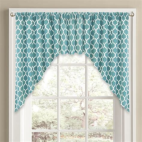Aqua Valance by Buy Morocco Window Curtain Swag Valance In Aqua From Bed