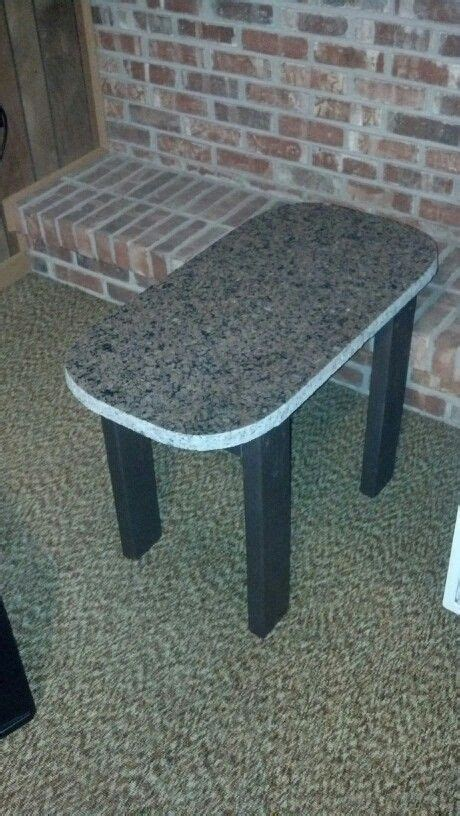 upcycled granite scrap into indoor outdoor coffee table