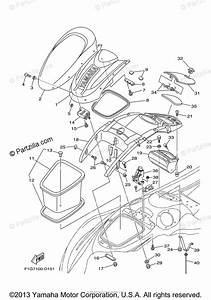 Yamaha Waverunner 2008 Oem Parts Diagram For Engine Hatch 2