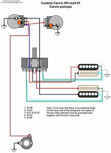 Hermetico Guitar  Wiring Diagram  Carvin Custom Hh 01