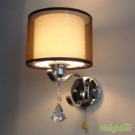 Bedside Sconces by Modern Led Wall L Cloth Wall Sconce Light