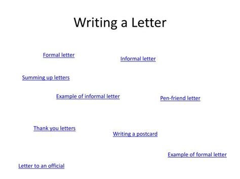 writing  letter powerpoint  id