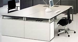 Mobilier Bureau Design Bureau Blanc Laqu Pas Cher