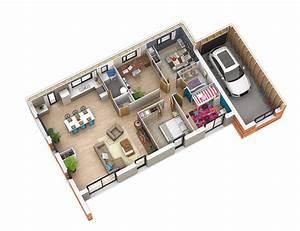 Plan Interieur Maison : interieur maison toit terrasse ~ Melissatoandfro.com Idées de Décoration