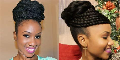 marley and jumbo braid bun on natural hair nothing like