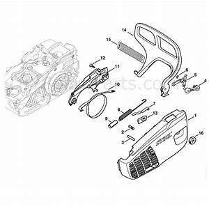 Stihl Ms 192 Chainsaw  Ms192t  Parts Diagram  Chain Sprocket Cover