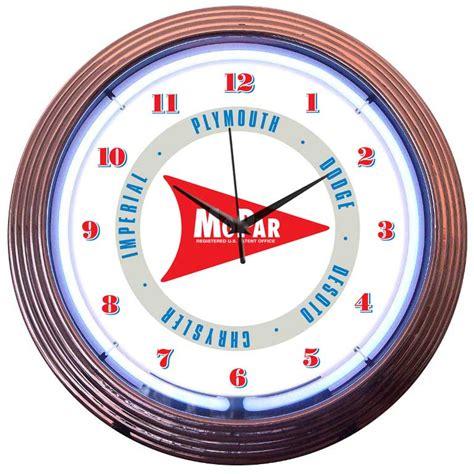 lighted clocks for sale mopar neon clocks dodge neon wall clocks for sale