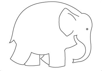 Elmer The Elephant Template by Early Learning Resourcess Elmer Colouring Sheet 2